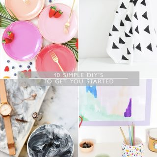 10 simple DIY's to get you started
