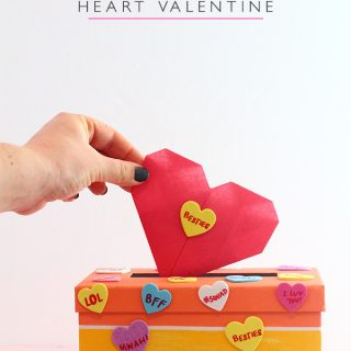 DIY Valentine's Day Mailbox and Origami Heart Valentine with video