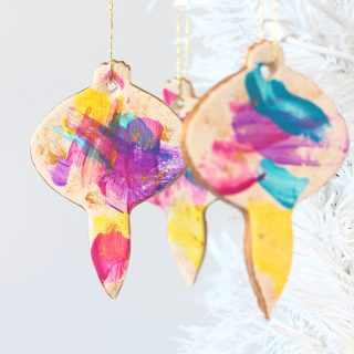 DIY Brushstroke Christmas Ornaments